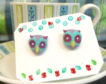 Autumn Owls - Earrings