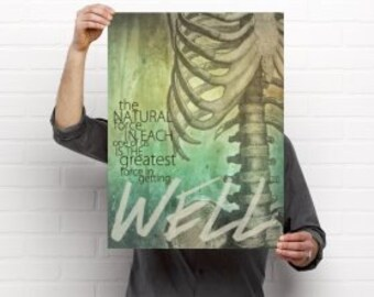 Greatest Force in Getting Well Chiropractic Medical Poster Artwork