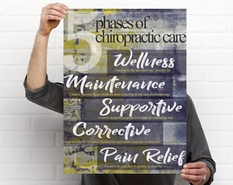 5 Phases of Care Chiropractic Anatomy Artwork Gradient