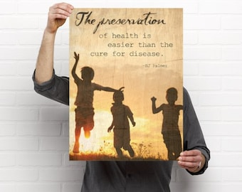 Preservation of Health Chiropractic Medical Poster Artwork