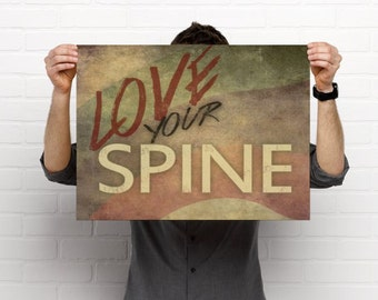 Love Your Spine Chiropractic Anatomy Artwork