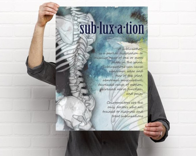 Featured listing image: Definition of Subluxation Chiropractic Artwork