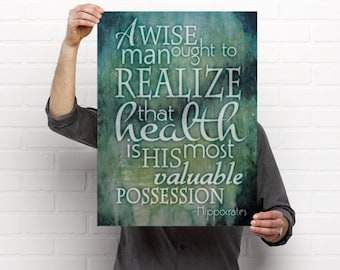 Health is Your Most Valuable Possession Artwork