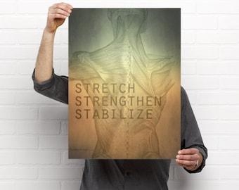 Stretch Strengthen Stabilize Artwork
