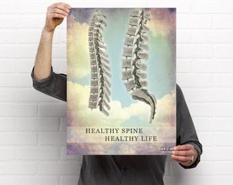 Healthy Spine Healthy Life Chiropractic Anatomy Artwork