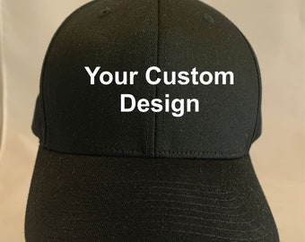 Custom Embroidered unstructured 6 panel hat personalized with your logo or  design d893d54fb615