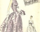 ON SALE - Vogue Special Design Evening Gown, Vintage 1950s Pattern, Special Occasion Dress, Full or Tea Length, Vogue S-4707, Uncut, Size 12