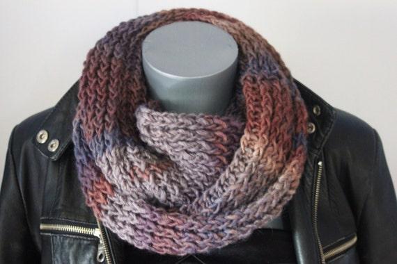 Snood en laine dégradé de couleur bleu gris et bordeau   Etsy cd36ad51a22