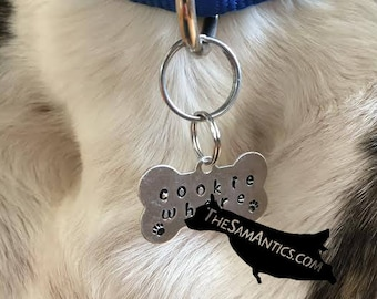 Funny Pet Gifts - Dog Bone Tag - Funny Dog Tag - Pet Dog Tag - Dog Tags for Dogs - Dog Tag for Collar - Dog Tag Keychain - Pet Tags - Mature