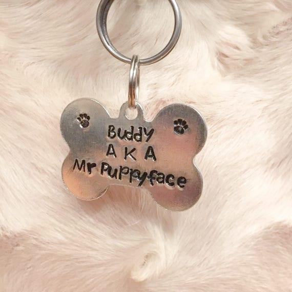 custom dog tags custom pet tag dog bone tag personalized etsy
