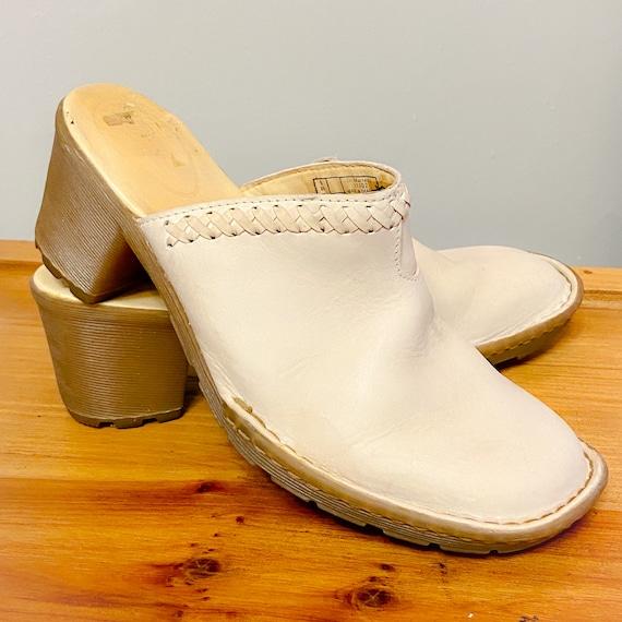 Dr. Martens Women's Cream High Heel Mules - Size 7
