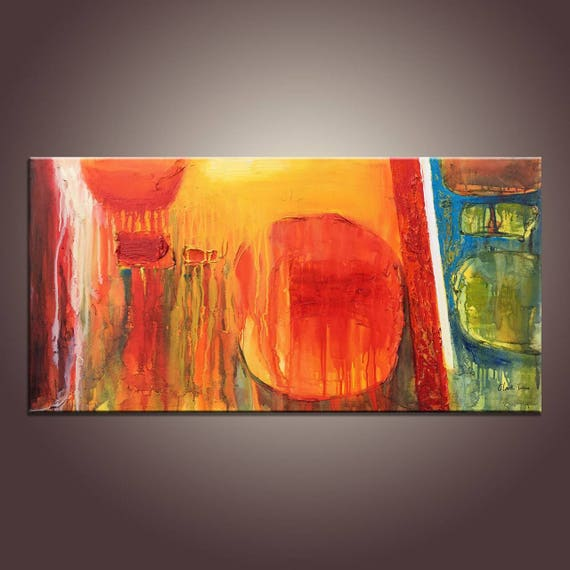 Abstract Art Canvas Art Large Canvas Wall Art String Lights For Bedroom Original Art Large Canvas Painting Modern Art Oil Painting