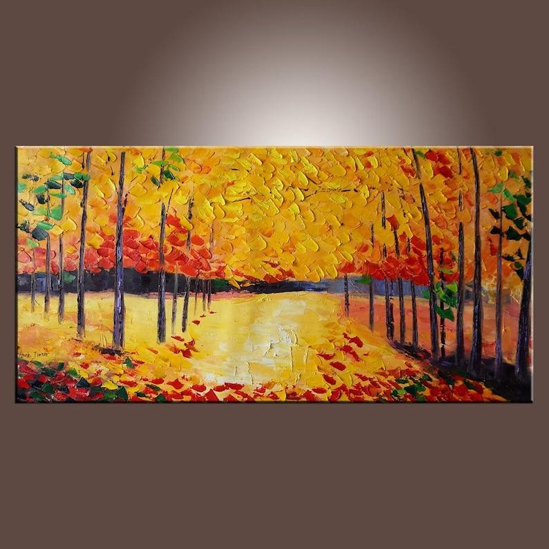 Aceite Grande De Arte Abstracto Pintura Abstracta Original Etsy