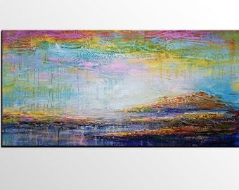 Large Art, Large Oil Painting, Livingroom Canvas Art, Oil Painting Abstract, Landscape Painting, Abstract Art, Canvas Wall Art, Modern Art
