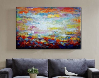 Large Art, Large Painting, Canvas Art, Canvas Painting, Living Room Art Decor, Abstract Landscape Art, Large Oil Painting, Abstract Art
