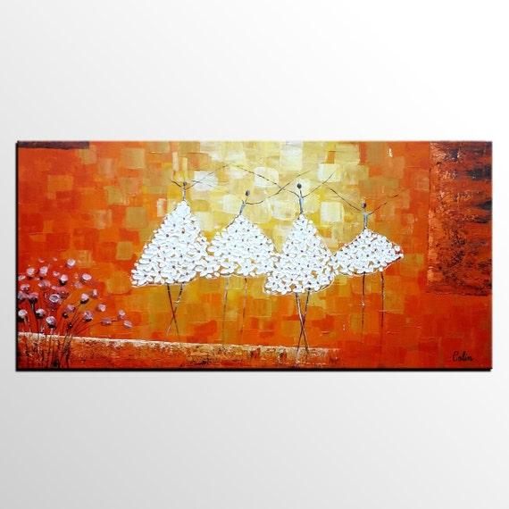 Art Original Des Danseuses De Ballet Peinture Chambre Wall Etsy