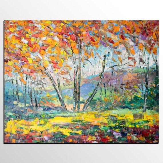 Abstract Art Canvas Wall Modern Tree Painting Oil