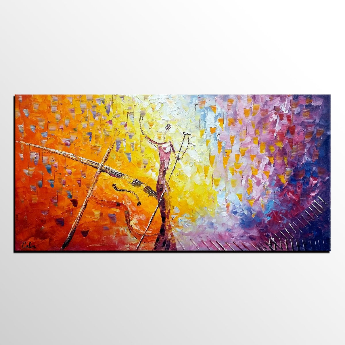 Canvas Painting Abstract Painting Original Art Pop Singer