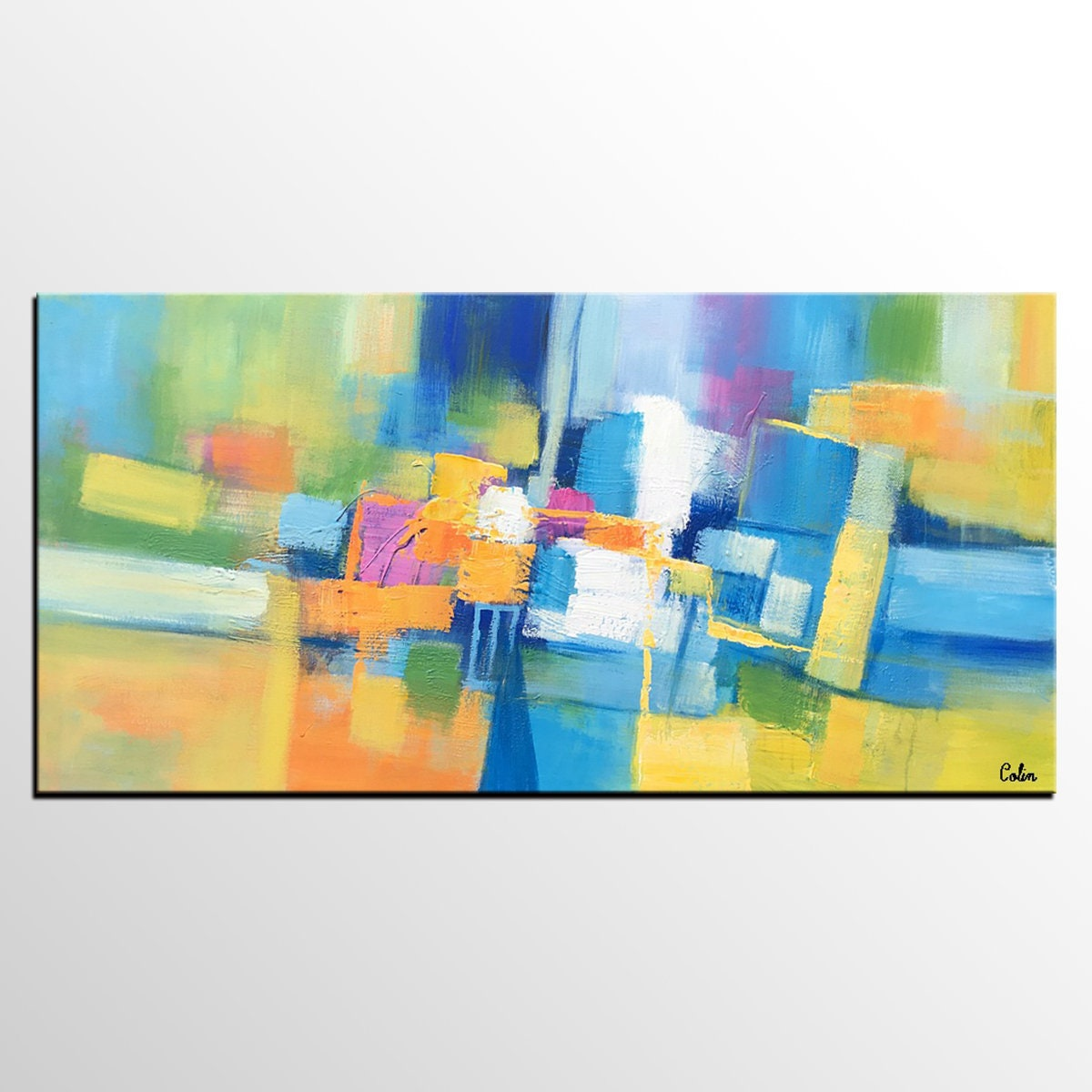 Abstract Art Painting Original Painting Bedroom Wall Art