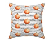 Farmhouse Pumpkin Pillow, Cover Rustic Fall Decor Autumn Country Pillow Wedding Shower Gift Ready to Ship Free Shipping