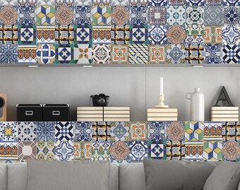 Portugiesische Fliesen Aufkleber Amadora   Packung Mit 36 Steinen   Kachel  Aufkleber Kunst Für Wände Küche Backsplash Bad