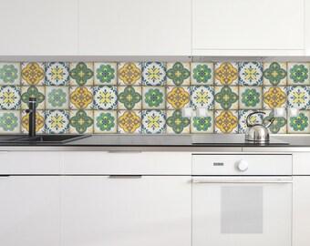 Marokkanische Fliesen Sticker   Set Mit 4 Fliesen   Fliesen Aufkleber Kunst  Für Wände Küche Backsplash Akzent Küche Bad