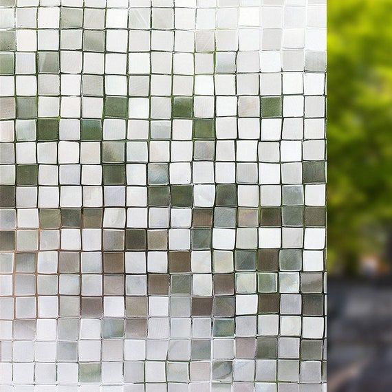 Self Adhesive Window Film Mosaic Pattern for Home Kitchen Office Bedroom  19 6