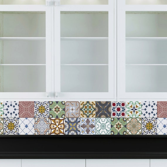 Decorative Tiles Stickers Tomar Pack Of 16 Tiles Tile Decals Art For Walls Kitchen Backsplash Bathroom