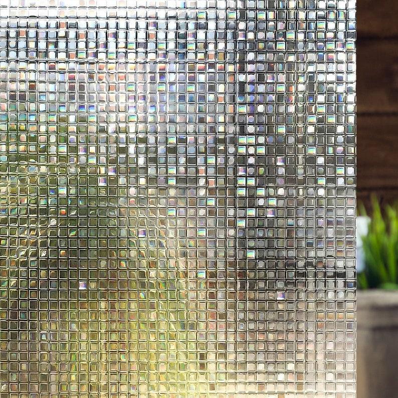 Non-Adhesive Window Film Laura, Static Cling Decorative Privacy Film 35 4