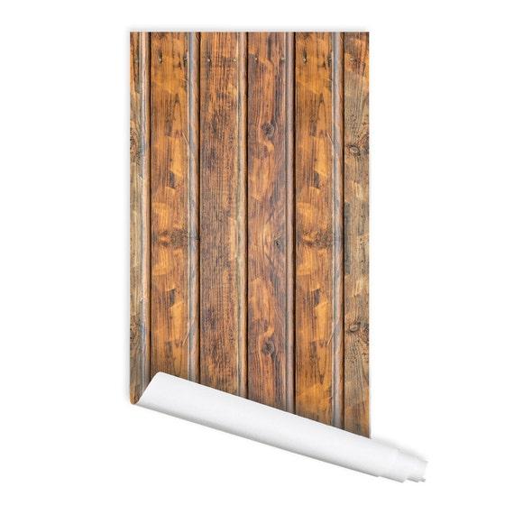 2.00Feet X 6.56 Feet Peel /& Stick Flame Retardant Backsplash Natural Wood Beige Gray Self-Adhesive Wallpaper PF4151-2