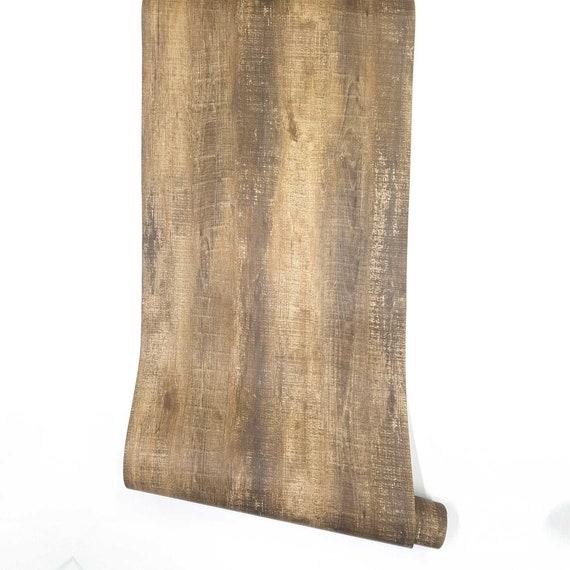 Rustic Wood Look Peel And Stick Wallpaper Djenne Decorative Etsy