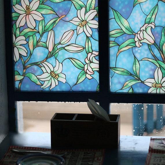 Pellicola per finestre 45*200 cm White pellicola autoadesiva privacy smerigliato finestra adesivi decorativi in vetro finestra per home affitto Apartment