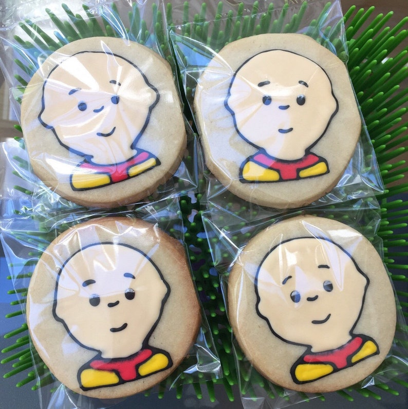 CAILLOU Boy Kid Inspired Cookies Birthday Party Or