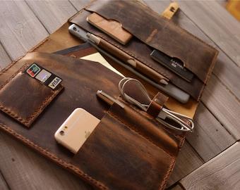 Leather Macbook Case, Personalized Macbook Air Sleeve, 15 Macbook Pro Cover, 13 inch Laptop Case, Custom Laptop Sleeve Folio 14 Bag