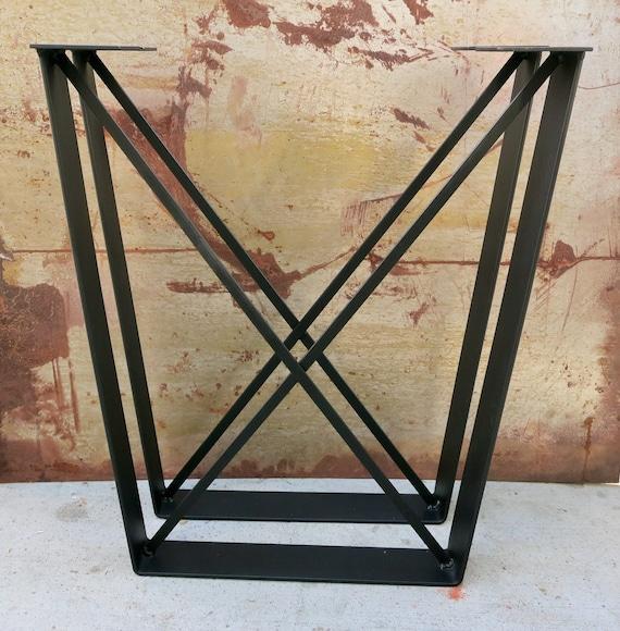 Metal Table Legs Flat Bar With X Brace Etsy