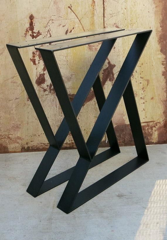 Z metal table legs set of 2 top plate etsy image 0 watchthetrailerfo
