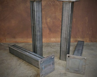 "Metal Tube Table Legs (Set of 4) 12""-28""height"