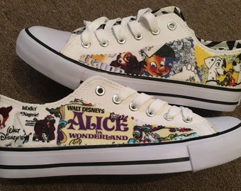 Men's and women's unisex inspired disney movie canvas low tops,made using licensed fabric