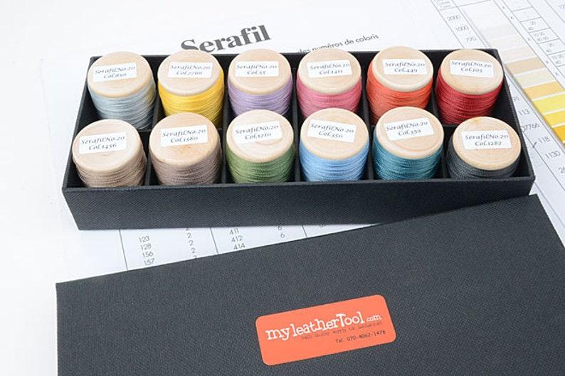 Serafil Soft Color No.10 or 20 Threads 12 color | Etsy
