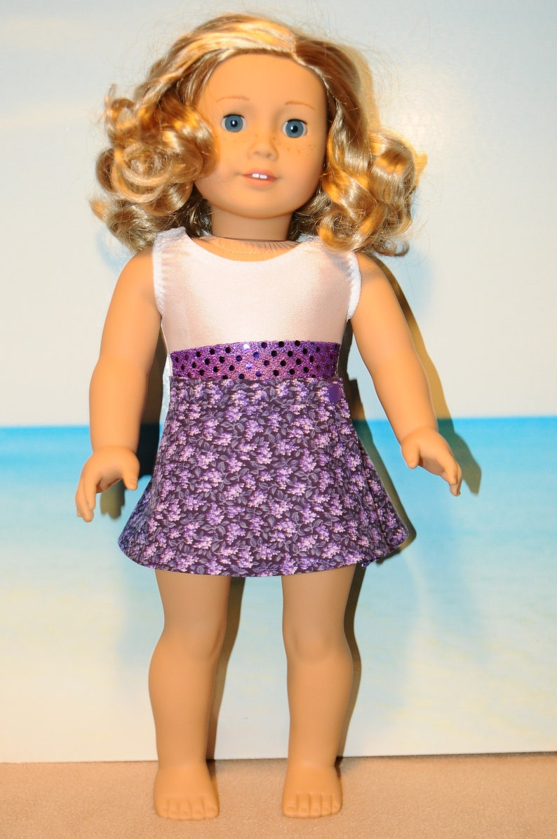 2 piece white swim suit fits American Girl doll Handmade and New