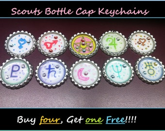 Scout Bottle Cap Keychains