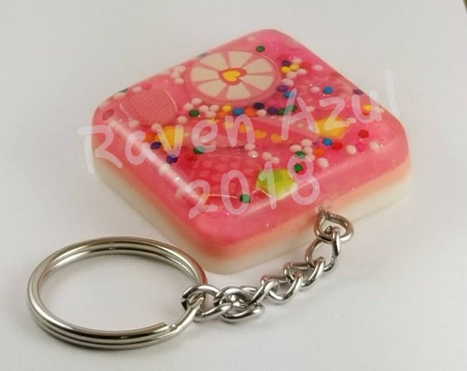Featured listing image: Pink Candy Sprinkle Key Chain