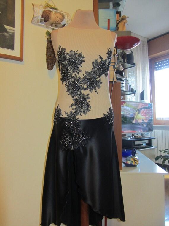 1ed79a795708 Tango dress in black stretch silk-Argentine tango   Etsy