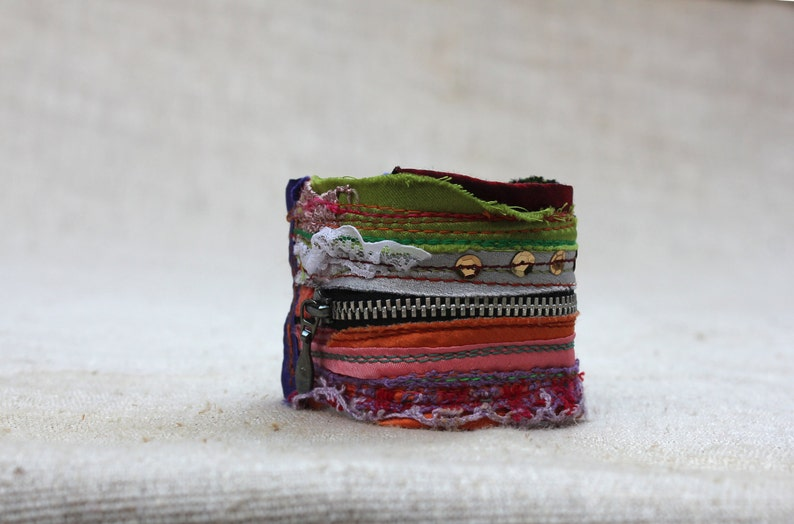 Groovy /& Cool in Hipster-Gypsy-Boho Chic Beautiful Colorful Cuff with a Twist
