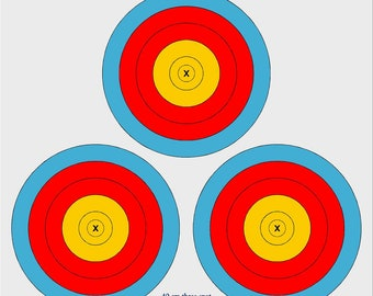 30 cm spot outdoor archery target, Single or 3 Spot
