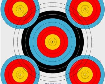92cm outdoor archery target, vinyl archery target