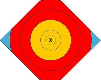 center patch outdoor archery target, vinyl archery target