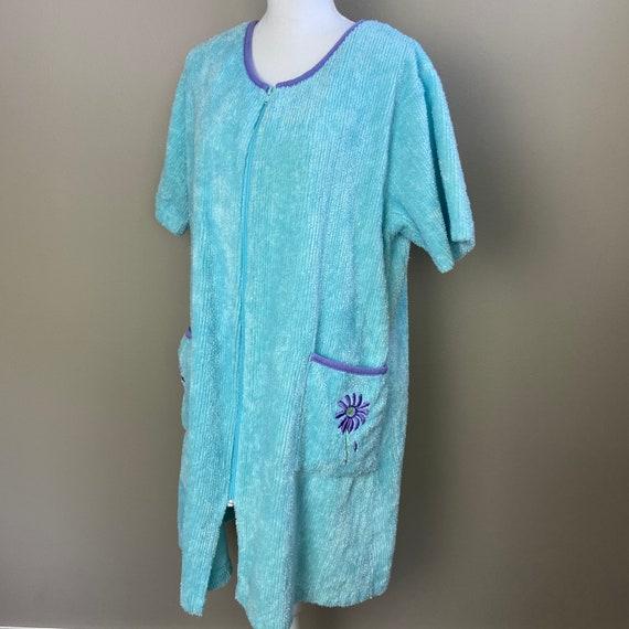 Stan Herman Vintage Chenille Zip Font Robe House C