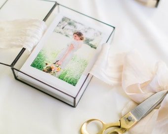 5 x 7 Clear Glass Photo Display Box-- Various Depths-- Your prints will fit!