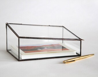 """NEW! The EDGE Clear Glass 5x7"""" Photo Display Box for prints - Yes! Your prints will fit!"""